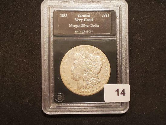 Slabbed 1883-S Morgan Dollar