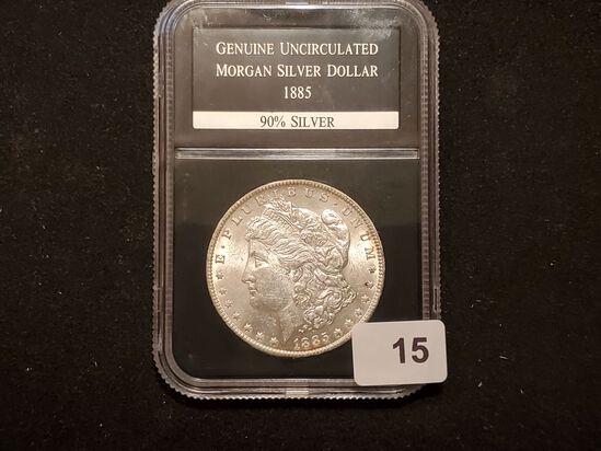 Slabbed 1885-O Morgan Dollar Mint State 63