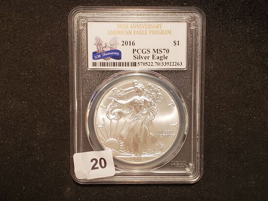 PCGS 2016 American Silver Eagle Mint State 70