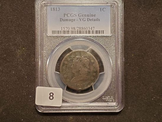 PCGS 1813 Classic Head Large Cent Very Good - details