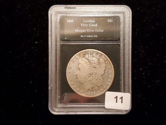 Slabbed 1885 Morgan Dollar