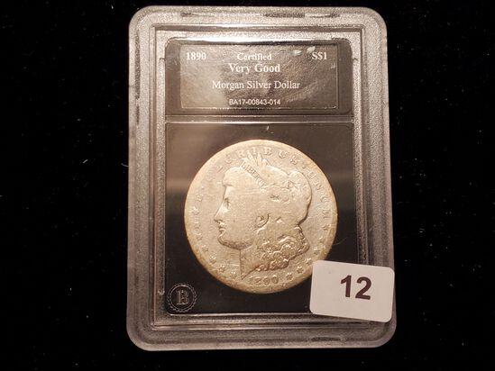 Slabbed 1890-S Morgan Dollar