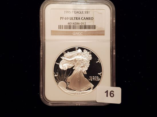 Better Date NGC 1995-P American Silver Eagle Proof 69 Ultra Cameo