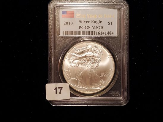 PCGS 2010 American Silver Eagle Mint State 70