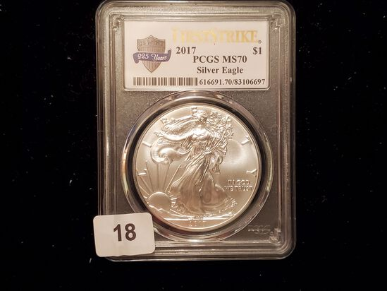 PCGS 2017 American Silver Eagle Mint State 70