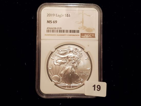 NGC 2019 American Silver Eagle Mint State 69