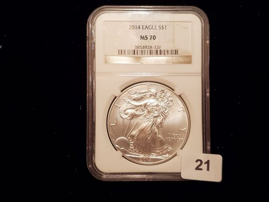 NGC 2014 American Silver Eagle Mint State 70