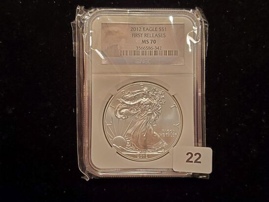 NGC 2012 American Silver Eagle Mint State 70