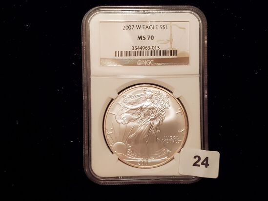 NGC 2007-W American Silver Eagle Mint State 70