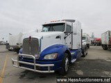 2013 KENWORTH T660 T/A SLEEPER,HESS REPORT ATTACHED, 815139 MILES ON ODO, E