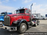 1988 KENWORTH T800 T/A DAYCAB, 48657 MILES ON ODO, 80000 GVW, CAT 6 CYL 340