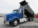 2007 KENWORTH T800 TRI AXLE STEEL DUMP TRUCK, TITLE DELAY, 720519 OD MI, EC