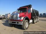 2007 INTERNATIONAL 7600 TRI AXLE STEEL DUMP TRUCK,  TITLE DELAY, HESS REPOR