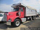 1999 KENWORTH T800 TRI AXLE ALUMINUM DUMP TRUCK, 72800 GVW, 27300 LT WT, CA