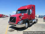 2013 VOLVO VNL62T670 T/A SLEEPER,  HESS REPORT ATTACHED, 579846 MILES ON OD