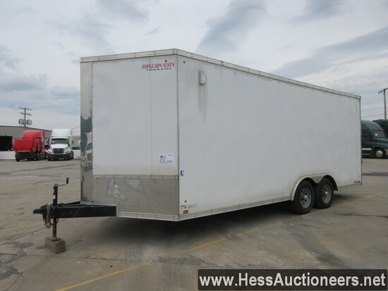 2018 DISCOVERY CARGO ENCLOSED TRAILER, TITLE DELAY, 8500 GVW, TANDEM, SPRING SUSP, 225/75R15 ON STEE