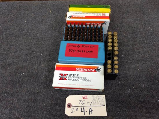 101 rounds .243 ammo w/50 reloads & 27 rounds spent brass