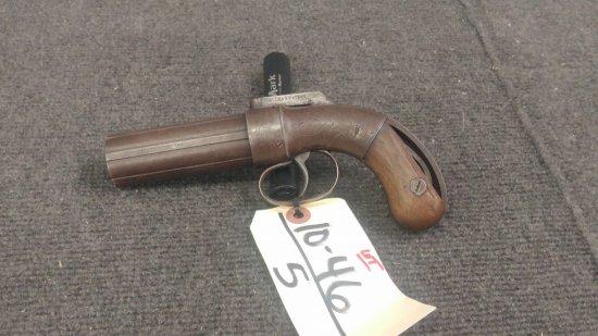 Allen & Thurber Antique Black Powder Peperbox Revolving Barrel Pistol .30 cal family patent