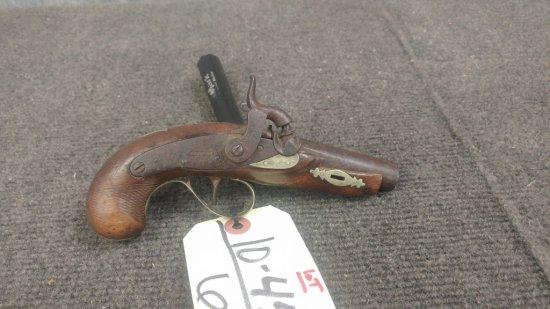 Antique Black Powder Deringer pistol probability 40cal family