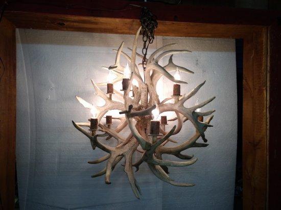 Beautiful Whitetail Antler Chandelier Brand New Piece