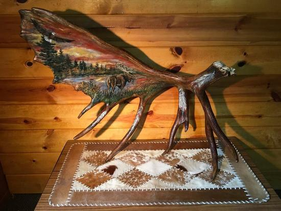 """Self Standing Painted Moose Shed 36""""long by 30"""" high"""