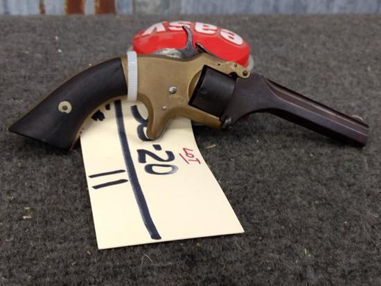 Smith & Wesson .22 Short Tip Up Revolver Brass Frame 7 Shot