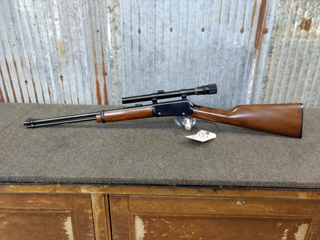 Lot: Henry Lever Action  22 Carbine With Weaver Scope D U