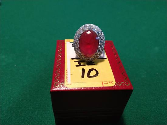 8.12ct Ruby Estate Ring