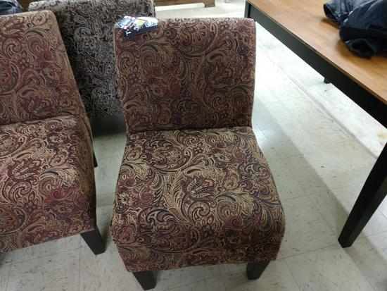 Brand New Simmons Paisley Pattern Occasional Chair