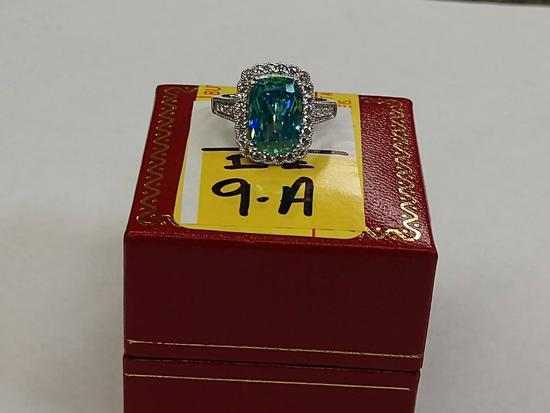 3.68 Alaskan Teal Sapphire Ring