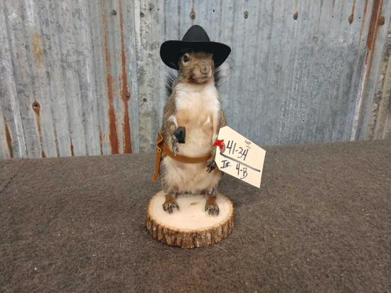 Full Body Mount Cowboy Squirrel