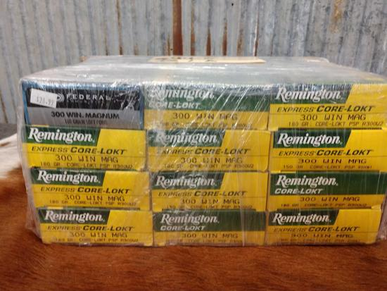 Approximately 220 rounds 300 win mag ammo