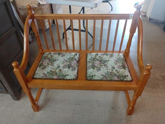 """New 2 Seat Upholstered Bench 38"""" Long"""