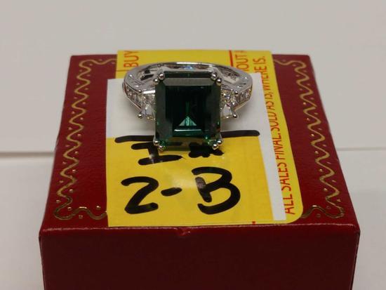 4.02ct Emerald Estate Ring