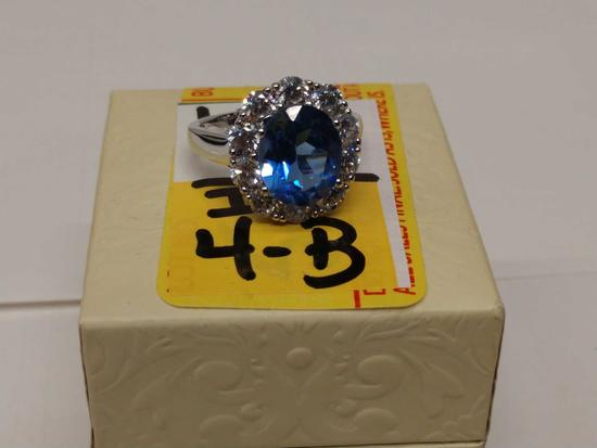 4.68ct Princess Diana Tanzanite Ring