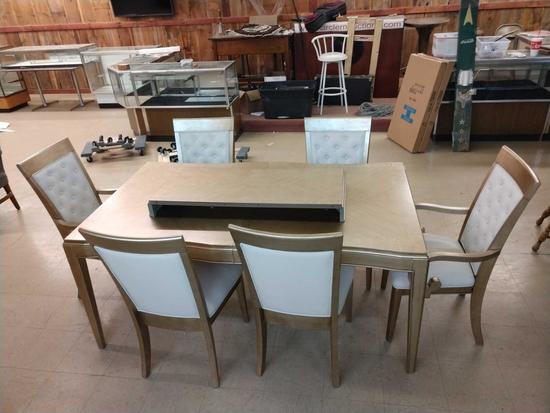 Whalen Monroe Style Dining Room Table & 6 Chairs
