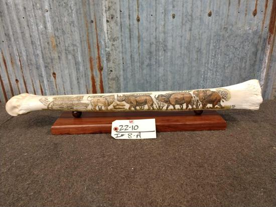 Polished & Scrimshawed Giraffe Leg Bone