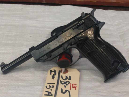 WWII Era Walther P 38 9mm Semi Auto Pistol
