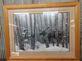 Large Moose Print by Stephen Lyman