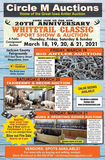 Whitetail Classic Taxidermy & Decor Auction