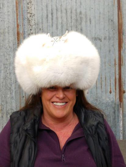 Polar Fox Fur Hat Taxidermy NICE !!