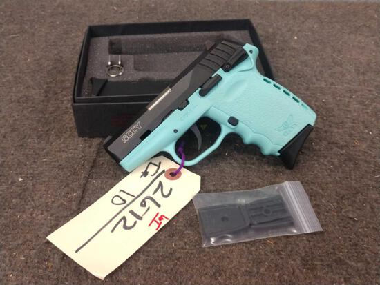 SCCY Model CPX1 9mm Semi Auto Pistol