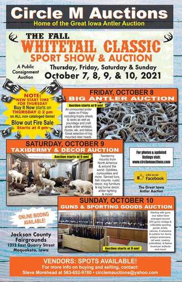 Premier Taxidermy & Decor Auction