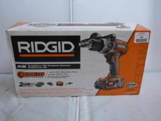 Ridgid Brusheless 18v Compact Hammer Drill/Driver Kit