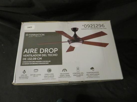 """Aire Drop Ceiling Fan 52"""" Ceiling Fan"""