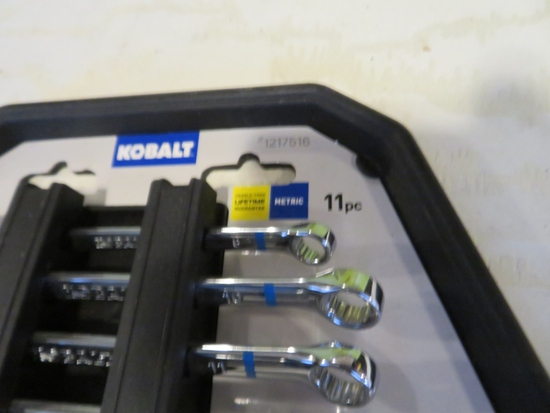 Set of Kobalt Metric Wrenches 11 pc