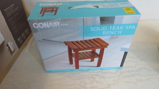 Conair Solid Teak Spa Bench