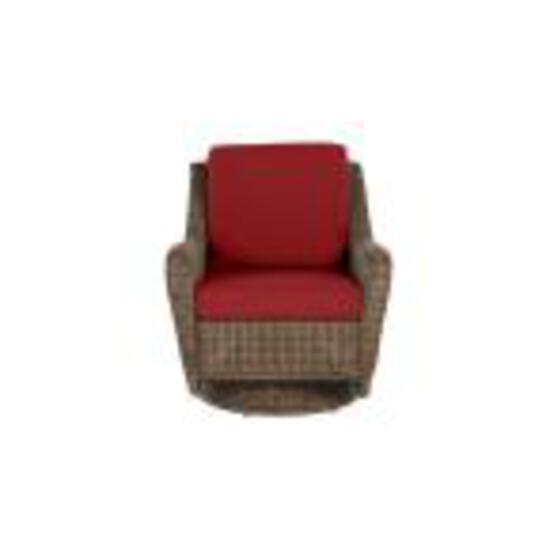 Brown Wicker Patio Swivel Rocking Chair