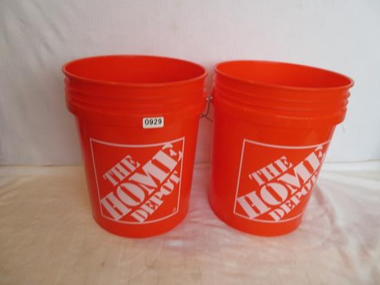 Two Home Depot 5 Gallon Buckets