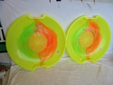 2 ESP 1-Person Racing Poly Snow Sled Discs